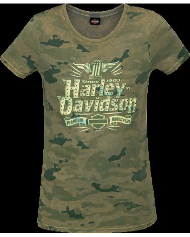 Harley Davidson Route 76 t-shirt donna R003591