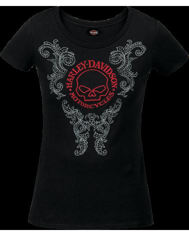 Harley Davidson Route 76 t-shirt donna R003597