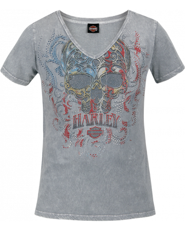 Harley Davidson Route 76 t-shirt donna R003609