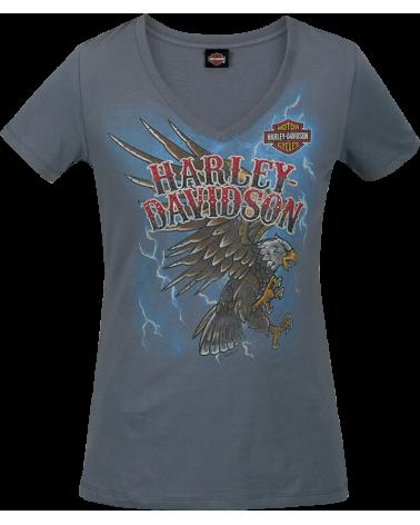 Harley Davidson Route 76 t-shirt donna R003611