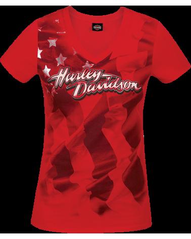 Harley Davidson Route 76 t-shirt donna R003613