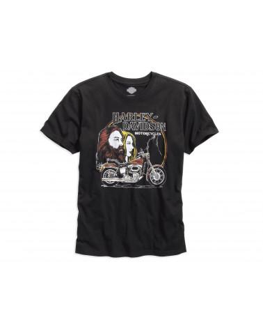 Harley Davidson Route 76 t-shirt uomo 96133-16VM