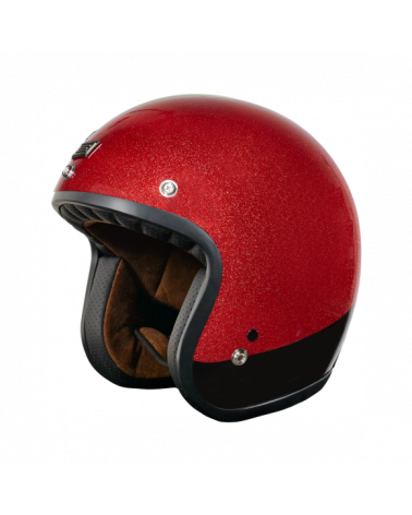Harley Davidson Route 76 caschi jet COSMO RED